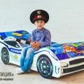 Детская кровать машина ПОЛИЦИЯ в интернет-магазине