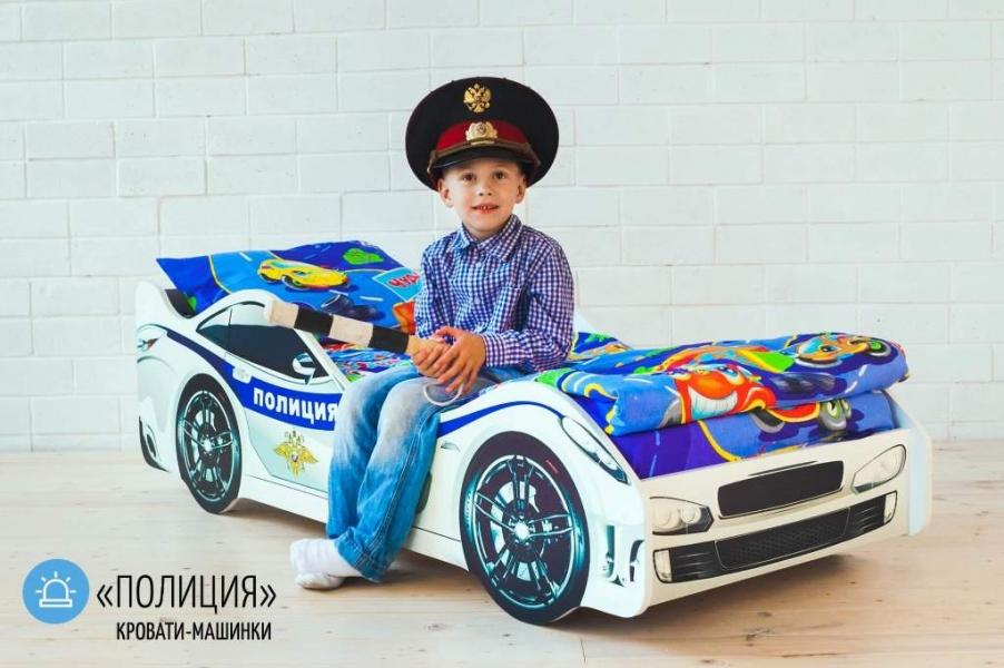 Детская кровать машина ПОЛИЦИЯ с хорошими отзывами