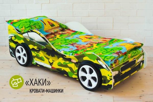 Детская кровать - машина ХАКИ в Санкт-Петербурге с доставкой