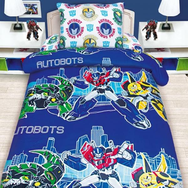Детское постельное белье Transformers Автоботы / Трансформеры Автоботы (бязь, 100% хлопок) с профессиональной сборкой