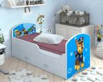 Детская кровать Classic Щенячий патруль с ящиками. Гонщик