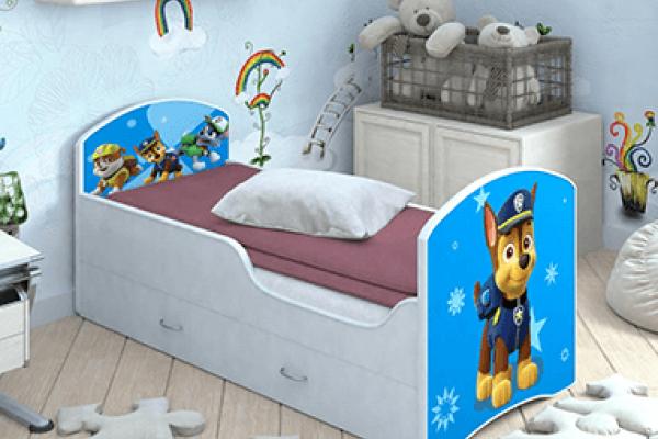 Детская кровать Classic Щенячий патруль с ящиками. Гонщик в Санкт-Петербурге с доставкой