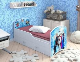 Детская кровать Classic Холодное сердце с ящиками