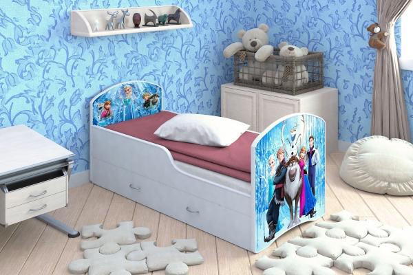 Детская кровать Classic Холодное сердце с ящиками в Санкт-Петербурге с доставкой
