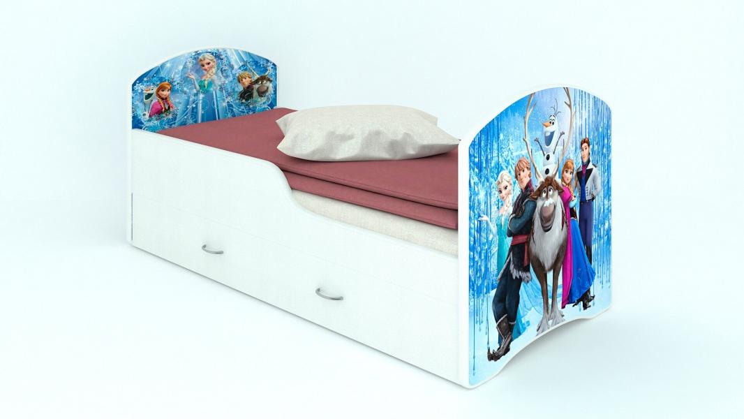 Детская кровать Classic Холодное сердце с ящиками с удобной инструкцией