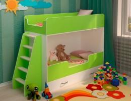 Двухъярусная кровать Зеленая купить в наличии в Санкт-Петербурге