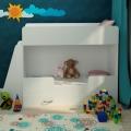 Детская двухъярусная кровать Классическая белая в интернет-магазине