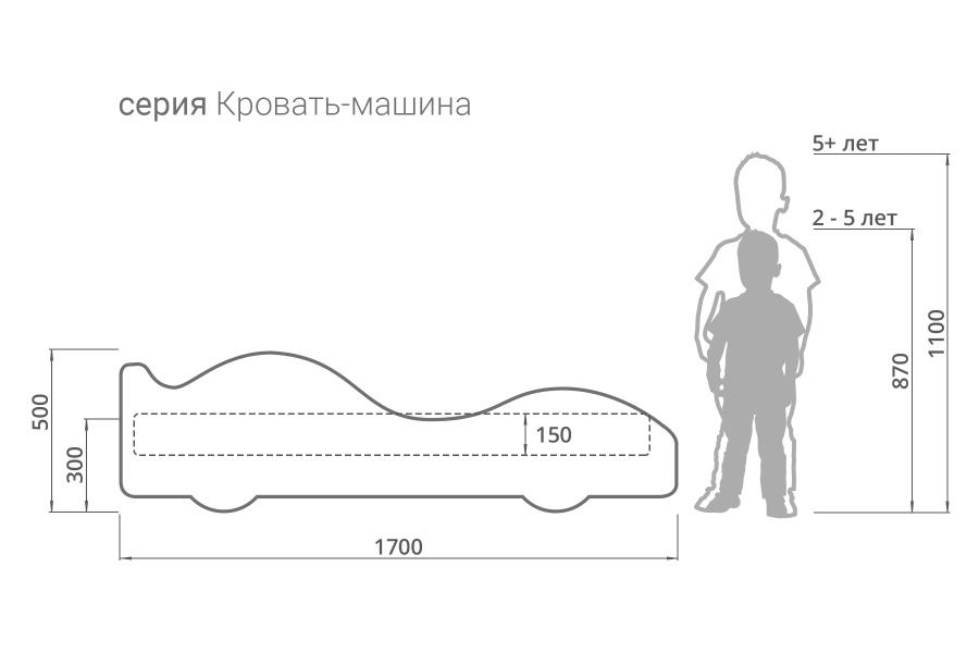 Детская кровать - машина ХАКИ с официальной гарантией