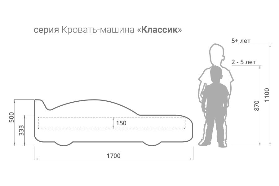 Детская кровать - машина FERRARI (ФЕРРАРИ) с удобной инструкцией