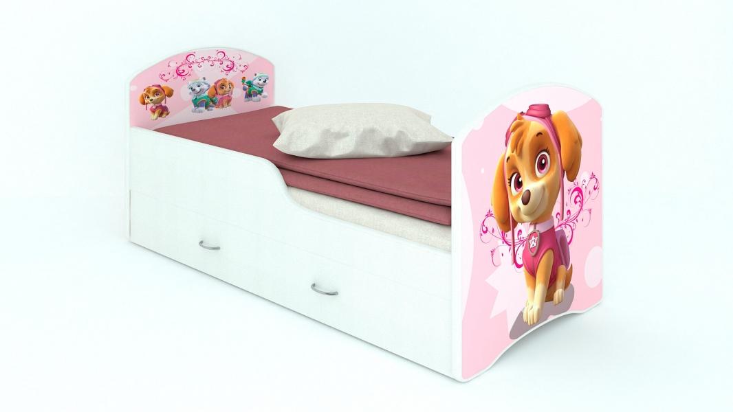 Детская кровать Classic Щенячий патруль Скай с ящиками с удобной инструкцией
