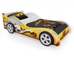 Детская кровать - машина Желтая