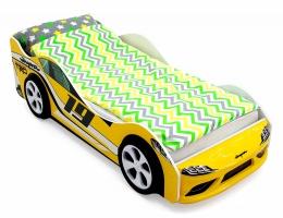 Объемная кровать машина Бельмарко Супра Желтая купить в наличии в Санкт-Петербурге
