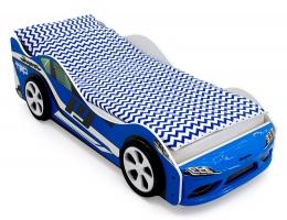 Объемная кровать машина Бельмарко Супра Синяя купить в наличии в Санкт-Петербурге