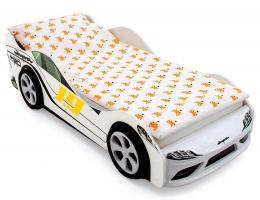 Объемная кровать машина Бельмарко Супра Белая купить в наличии в Санкт-Петербурге