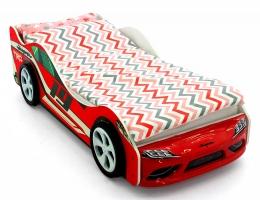 Объемная кровать машина Бельмарко Супра Красная купить в наличии в Санкт-Петербурге