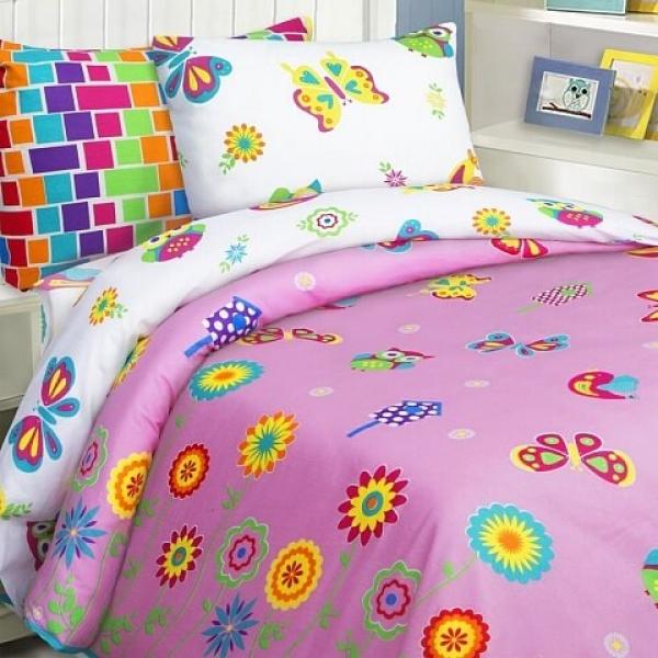 Детское постельное белье Бабочки (бязь, 100% хлопок) с хорошими отзывами