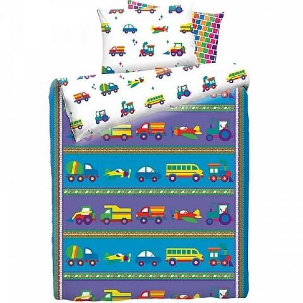 Детское постельное белье Машинки (бязь, 100% хлопок) по отличной цене