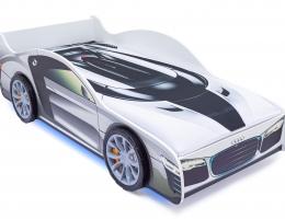 Кровать-машина «Ауди» с подъемным механизмом купить в наличии в Санкт-Петербурге