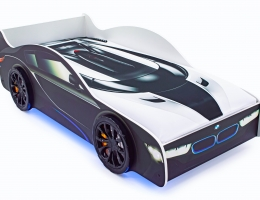 Кровать-машина «БМВ» с подъемным механизмом купить в наличии в Санкт-Петербурге
