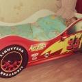 Кровать машина ТАЧКА КРАСНАЯ (Молния Маквин) в интернет-магазине