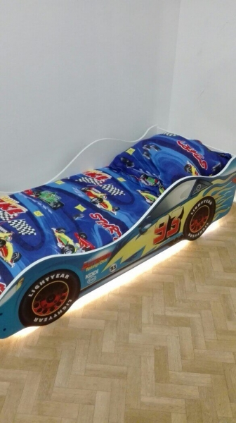 Детская кровать - машина ТАЧКА СИНЯЯ (Молния Маквин) Бельмарко с хорошими отзывами