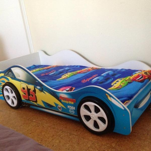 Детская кровать - машина ТАЧКА СИНЯЯ (Молния Маквин) Бельмарко с профессиональной сборкой