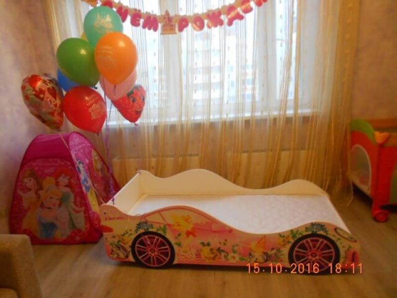 Детская кровать машина для девочки ФЕЯ с удобной инструкцией