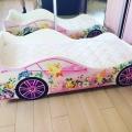 Детская кровать машина для девочки ФЕЯ без запаха