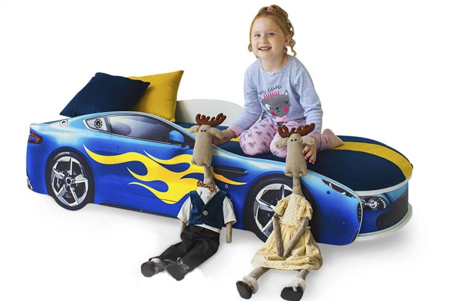 Кровать с подъемным механизмом детская БОНДМОБИЛЬ СИНИЙ с хорошими отзывами