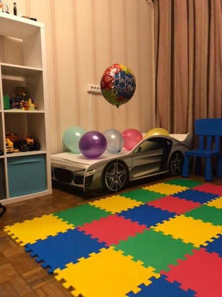 Детская кровать - машина AUDI (АУДИ) с удобной инструкцией
