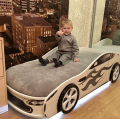 Кровать машина с подъемным механизмом БОНДМОБИЛЬ БЕЛЫЙ по отличной цене