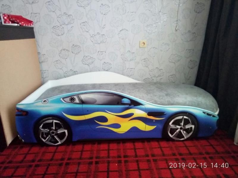 Кровать с подъемным механизмом детская БОНДМОБИЛЬ СИНИЙ в интернет-магазине