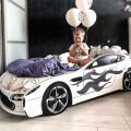 Кровать машина с подъемным механизмом БОНДМОБИЛЬ БЕЛЫЙ с официальной гарантией