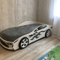 Кровать машина с подъемным механизмом БОНДМОБИЛЬ БЕЛЫЙ в интернет-магазине