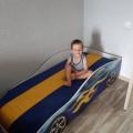 Кровать с подъемным механизмом детская БОНДМОБИЛЬ СИНИЙ с официальной гарантией