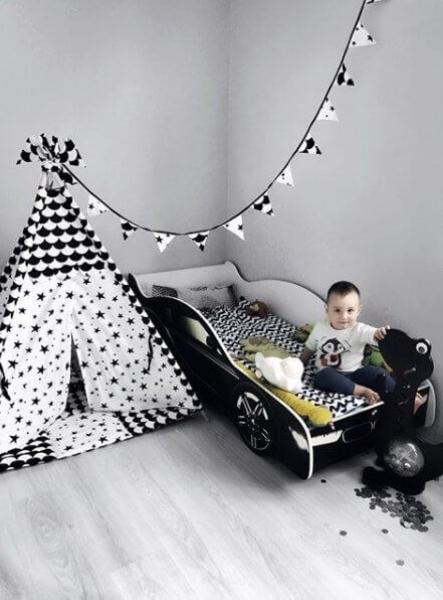 Кровать машина для мальчика BMW (БМВ) с удобной инструкцией